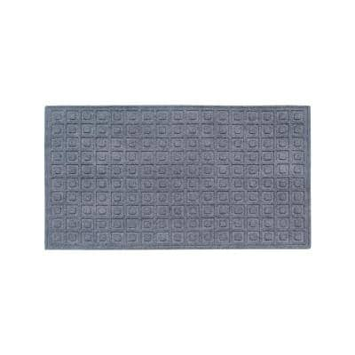 A1HC Matrix Dark Grey 24 in. x 36 in. Eco-Poly Scraper Mats with Anti-Slip Fabric Finish and Tire Crumb Backing