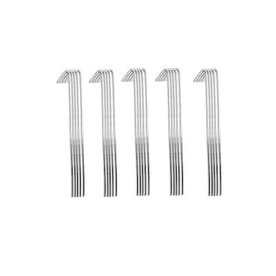 6-1/2 in. 11-Gauge Aluminum Chain Link Fence Ties (100-Pack)