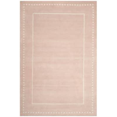 Bella Light Pink/Ivory 5 ft. x 8 ft. Border Area Rug