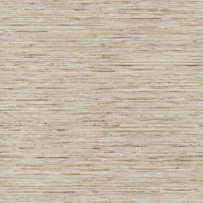 Grasscloth Taupe and Gold Metallic Vinyl Peel and Stick Wallpaper Roll (Covers 28.18 sq. ft.)