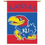 NCAA 28 in. x 40 in. Kansas 2-Sided Banner with Pole Sleeve