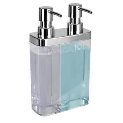 Dual Pump Soap and Lotion Dispenser in Clear