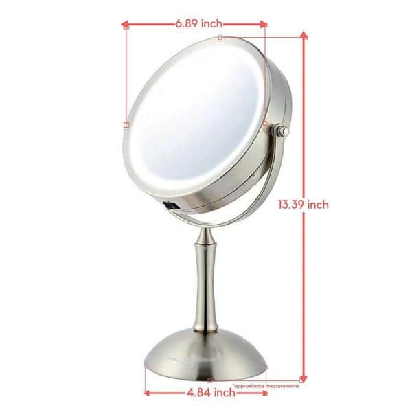 Ovente Lighted Makeup Mirror Cool Led, Home Depot Makeup Vanity Mirror With Lights