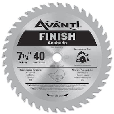7-1/4 in. x 40-Teeth Saw Blade