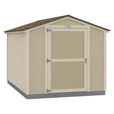 Installed The Tahoe Series Standard Ranch 8 ft. x 12 ft. x 7 ft. 10 in. Un-Painted Wood Storage Building Shed