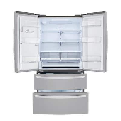 22 cu. ft. 4 Door French Door, Counter Depth, Double Freezer, Dual Ice w/ Craft Ice, Print Proof Stainless Steel
