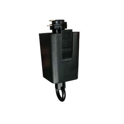120-Volt 150-Watt Black Linear Track Pendant or Chandelier Adapter