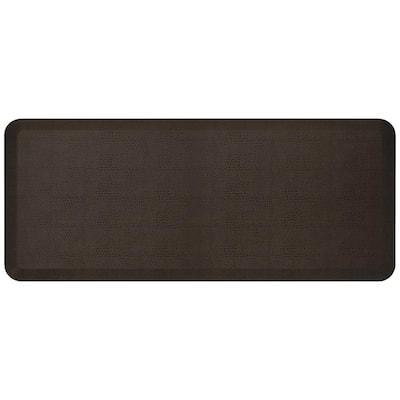 NewLife Designer Pebble Espresso 20 in. x 48 in. Anti-Fatigue Comfort Kitchen Mat