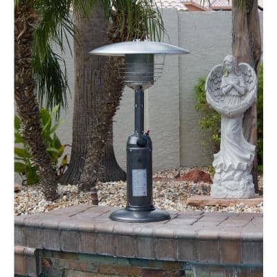 11,000 BTU Portable Hammered Silver Propane Patio Heater