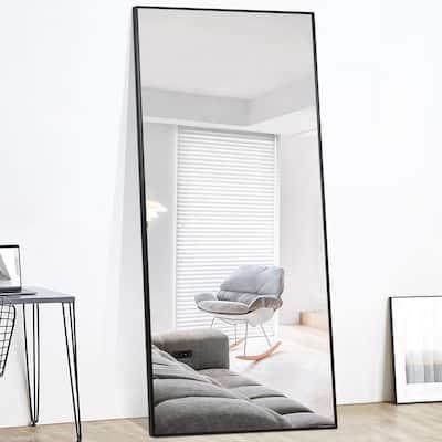 Floor Mirrors The Home Depot, Full Length Mirror Black Trim