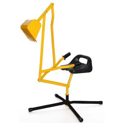 Metal Sand Digger Toy Crane for Sandbox and Seat for Playset Sandbox