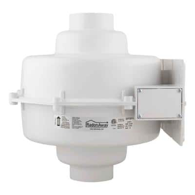 GP301C 3 in. Inlet and Outlet Inline Radon Fan in White with 2.3 in. Maximum Operating Pressure