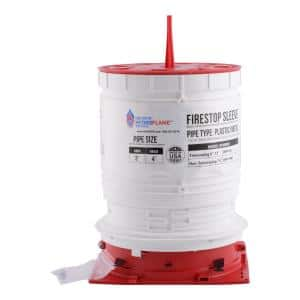 HydroFlame Pro 3 in. to 4 in. x 8 in. to 12 in. H Telescoping Firestop Sleeve