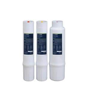Water Purifier Under Sink Replacement Filter Set (Fits System ECOP40)