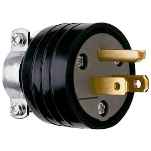 Pass & Seymour 15 Amp 125-Volt NEMA 5-15P Rubber Plug with Vinyl Cord Clamp