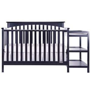 Chloe 5-in-1 Navy Convertible Crib with Changer