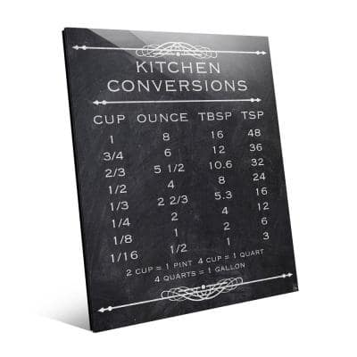 Kitchen Conversion Chalkboard Acrylic Abstract Wall Art Print 20 in.x 24 in.