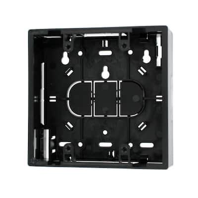 2-Gang 1.89 in. Box Depth Surface Mount Back Box, Black