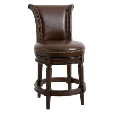 Chapman 45 in. high Brown Bar Height Swivel Stool