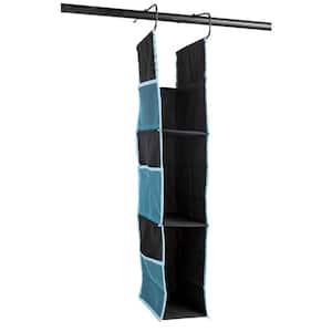 37 in. x 9 in. Blue Poly Canvas Adjustable Closet or Locker Shelf Drawer Storage Organizer