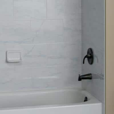 Carrara 3 in. x 18 in. Glazed Porcelain Bullnose Trim Tile (0.35 sq. ft./Piece)
