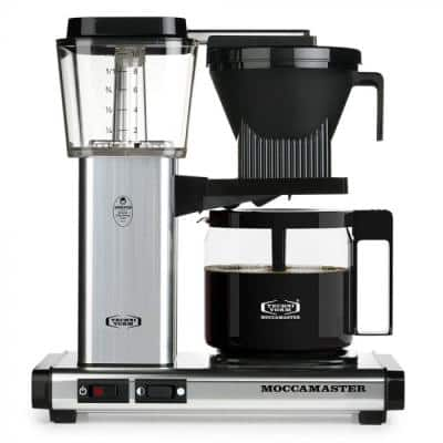 KBG 10-Cup Polished Silver Drip Coffee Maker