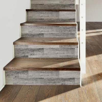 Gray Barn Wood Plank Peel And Stick Giant Wall Decals