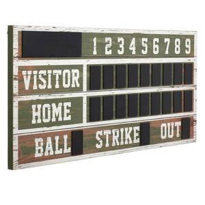 Deals on StyleCraft Wooden Chalkboard Baseball Scoreboard Wall Decor