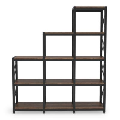 51.57 in. Retro Particle Board 12-Shelf Etagere Bookcase Display Shelf Storage Organizer