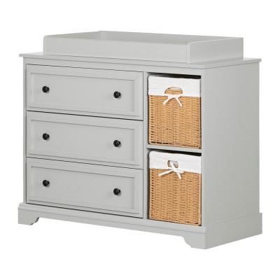 Kanal Soft Gray Changing Table