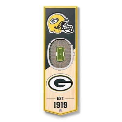 NFL Green Bay Packers 6 in. x 19 in. 3D Stadium Banner-Lambeau Field