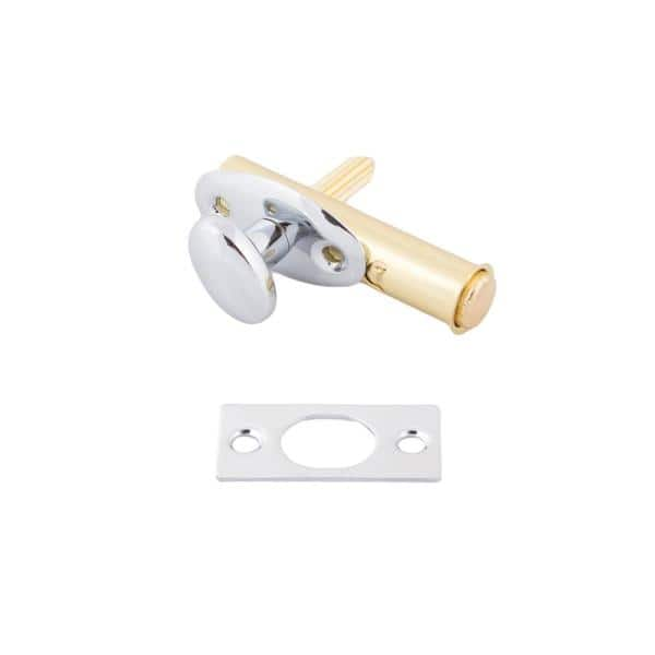 Polished Chrome IDHBA idh by St Simons 28500-026 Premium Quality Solid Brass Mortise Door Bolt