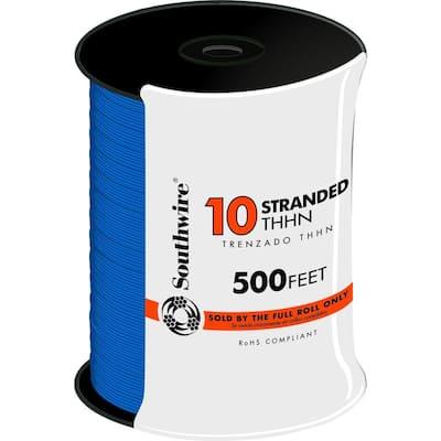 500 ft. 10-Gauge Blue Stranded CU THHN Wire