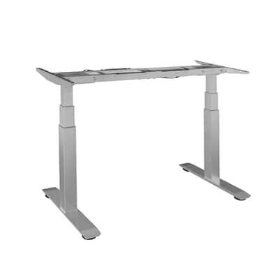 62.9 in. Rectangular Gray Standing Desks with Adjustable Height