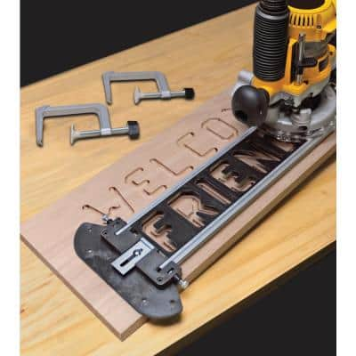 SignPro Complete Sign Making Router Jig Template Kit with Templates, Bits and Bushings