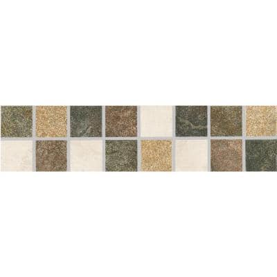 Mt. Everest L-1200 3 in. x 12 in. x 8 mm Glazed Porcelain Listello Floor and Wall Tile