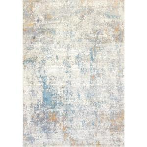 Dynamic Rugs Valley Blue Beige 5 Ft 3 In X 7 Ft 7 In Traditional Viscose Area Rug Vy697984580 The Home Depot