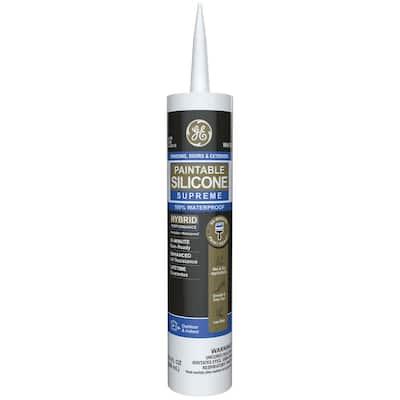 Paintable Silicone Supreme 9.5 oz. White Exterior Window and Door Sealant