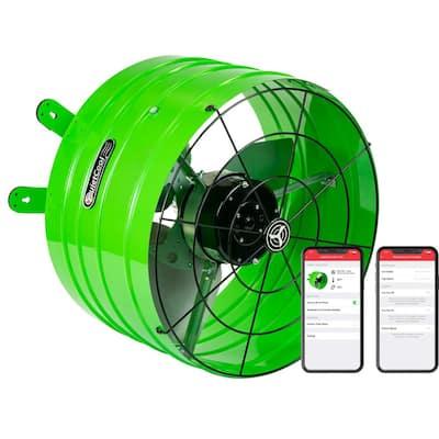 2830 CFM Smart App Controlled 3-Speed Gable Mount Attic Fan