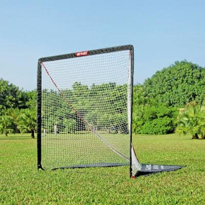 Net Playz 6 ft. x 6 ft. Portable Easy Setup Lacrosse Fiberglass Goal with Target Panel