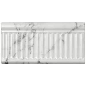 Classico Carrara Glossy Rex 3 in. x 6 in. Ceramic Subway Wall Tile (9.86 sq. ft. / Case)
