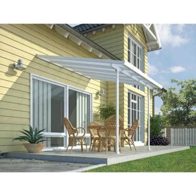 Feria 10 ft. x 10 ft. White Patio Cover Awning