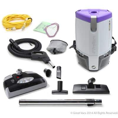 NEW ProVac Super Coach Pro 6 qt. Backpack Vacuum Cleaner with Power Head