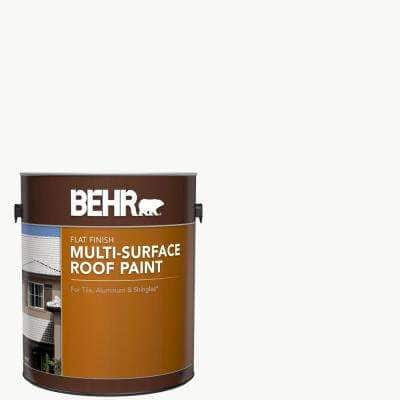 1 gal. White Reflective Flat Multi-Surface Exterior Roof Paint