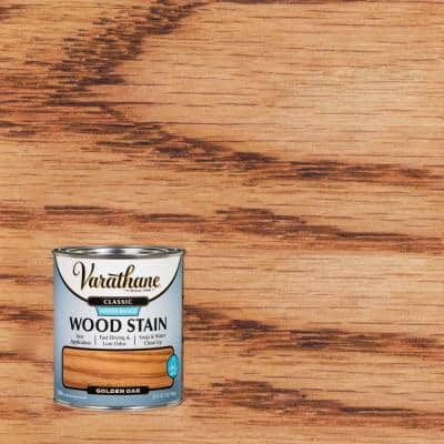 1 qt. Classic Golden Oak Water-Based Interior Wood Stain (2 Pack)