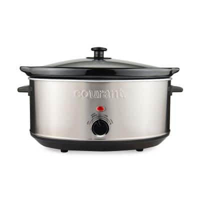 7 Qt. Stainless Steel Slow Cooker with Temperature Settings