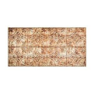 Traditional #2 2 ft. x 4 ft. Glue Up Vinyl Ceiling Tile in Bermuda Bronze (40 sq. ft.)