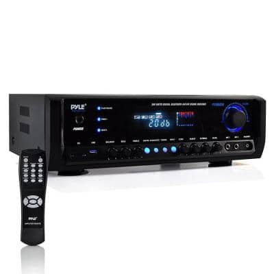 Pyle Digital Home Theater Bluetooth 4-Channel Radio Aux Stereo Receiver