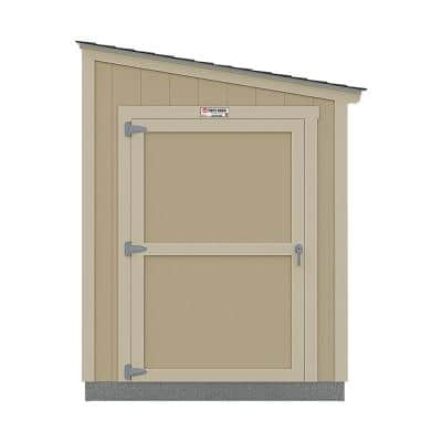 Installed The Tahoe Lean-to 6 ft. x 12 ft. x 8 ft. 3 in. Painted Wood Storage Shed