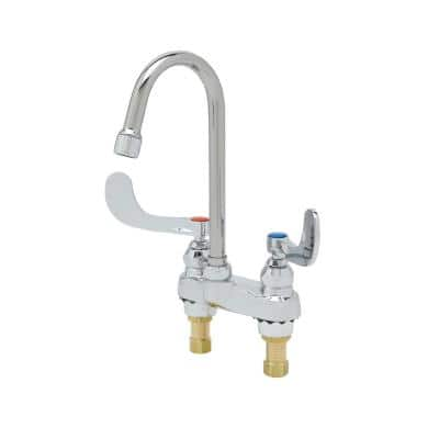 2-Handle Faucet with Gooseneck Nozzle in Chrome